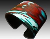 One-of-a-kind polymer clay cuff bracelet