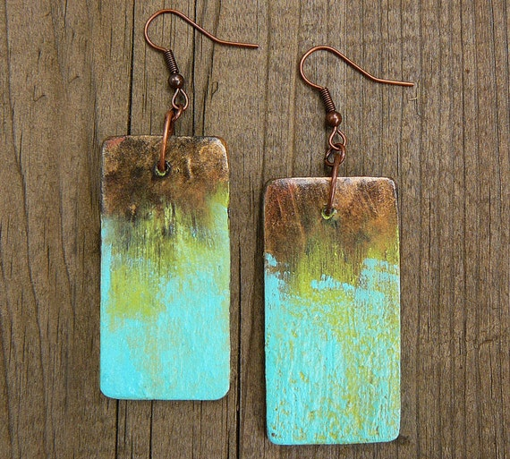 Mixed media and polymer clay earrings