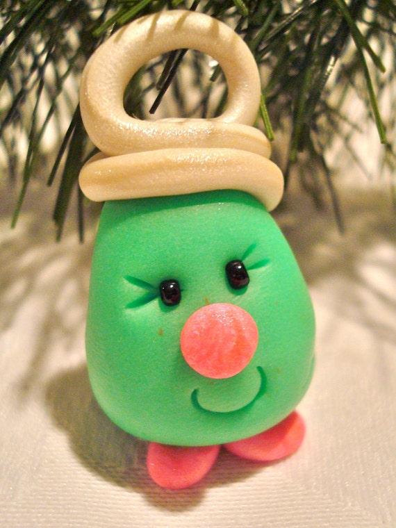 Christmas CHUBBY LIGHTBULB - Polymer Clay Ornament
