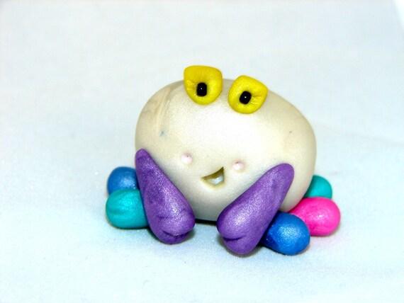 RAINBOW CHUBBY CRAB - Polymer Clay Animal - Summer Chubby Series - Figurine 12  of 12