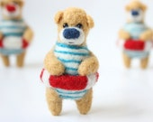 Poolparty bear, brooch, made to order