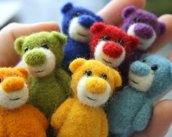 7 special miniature rainbow bears