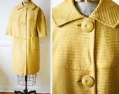 Vintage 1940s Ochre Button BLOOMS Spring Jacket