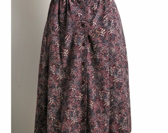Vintage 1970s Violet Meadows Skirt (S/M)