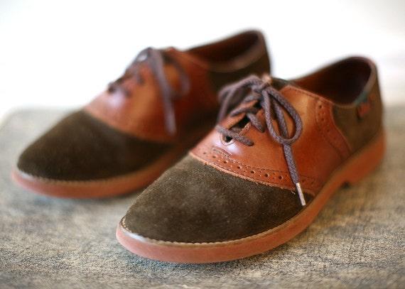 Vintage 1980s BASS Saddle Oxford Shoes 7 M By VeriteVintage