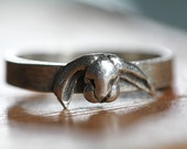 Tiny Rabbit Ring in Silver Sizes 3 to 10 quantity listing