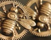 Steampunk Honeybee cufflinks