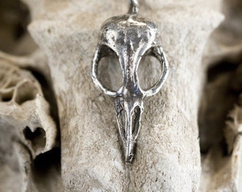 On Sale Bellatrix Bird Skull Necklace (Antiqued Silver chain) made in NYC