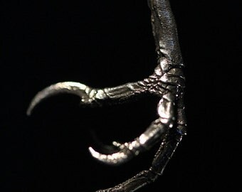 Bird claw necklace in Sterling Silver life cast in NYC