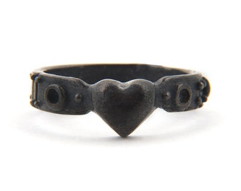 Your black little heart industrial ring Blue Bayer Design NYC