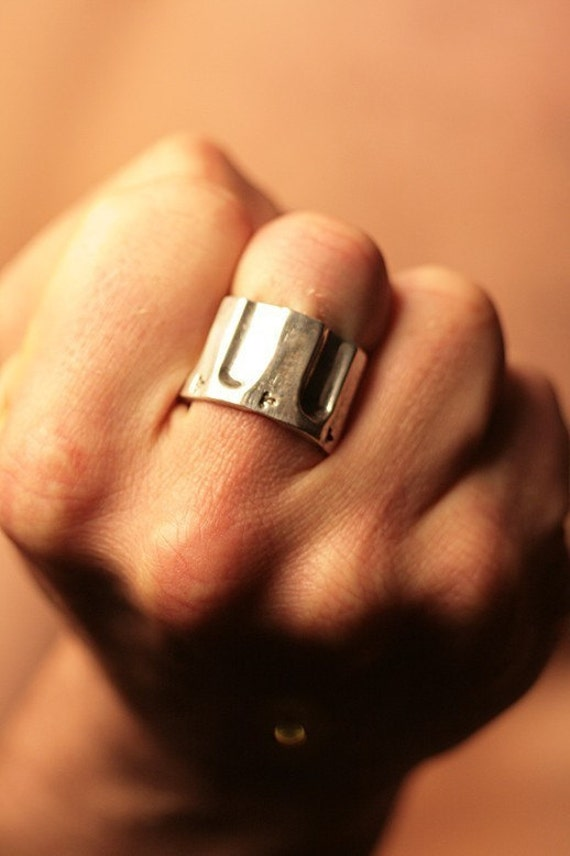 Pistol Ring 44 cal chamber in solid sterling silver  Sizes 4 through 13 Made in NYC