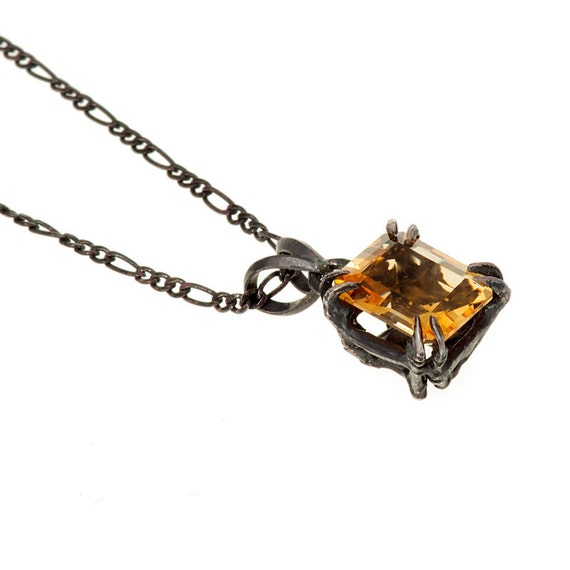 Catbird Solitaire Pendant Citrine 10x8 2.65 ct New Release from Blue Bayer Design NYC