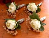 Rustic Woodland Boutonniere-Set of Four