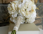 Bride's Bouquet Rustic Shabby Chic Vintage Look