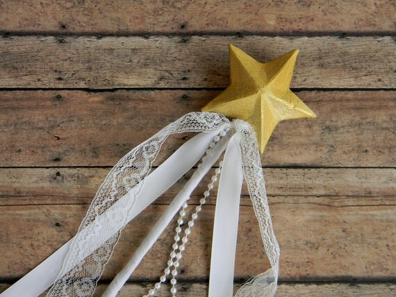 Star Wand Flower Girl Fairy Princess Wedding Halloween Play