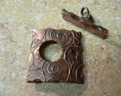 Textured Copper Toggle