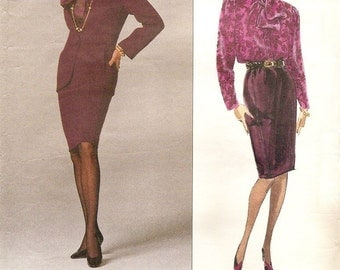 Vogue American Designer 2539 Oscar de la Renta jacket, skirt and blouse