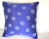 Throw Pillow - Indigo Circles Print  16 Inches by 16 Inches - GreeneStitches