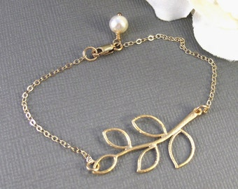 Olive Branch,Gold Bracelet,Leaf Bracelet,Gold Branch Bracelet,Olive Branch Bracelet,Gold Jewelry,Branch Jewelry,Leaf Jewelry,Gold Filled,