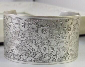 Isabella Bloom,Bracelet,Cuff,Silver Bracelet,Cuff Bracelet,Silver,Antique Bracelet,Wedding,Bride.Handmade Jewelry by valleygirldesigns.