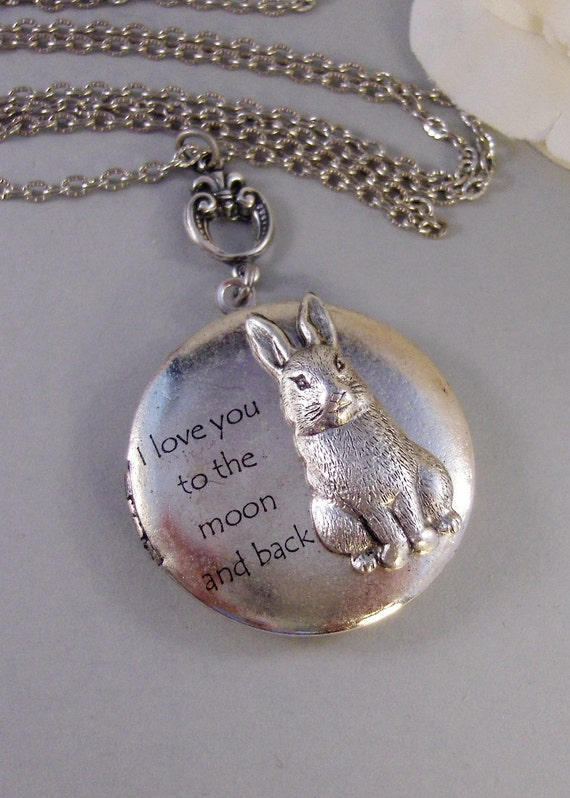 Bunny Love,Bunny Necklace,Rabbit Necklace,Locket,Rabbit,Bunny,Antique Locket,Antique,Nature,Woodland,Love You valleygirldesigns.