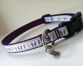 Small BFF on Purple Dog Collar