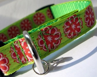 EXTRA SMALL Summer Flowers Dog Collar
