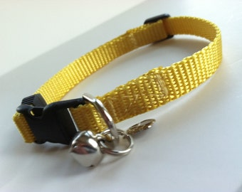 Cat Collar in Basic Mustard