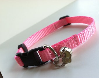 Cat Collar in Basic Baby Pink