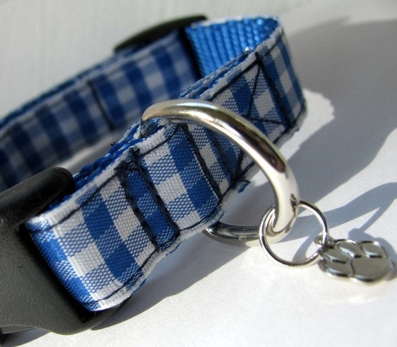 Life's a Picnic in Blue XS Dog Collar
