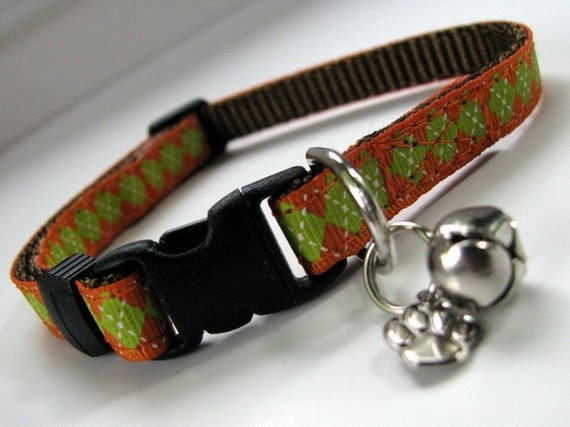 Earthy Argyle Cat Collar