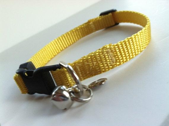 Cat Collar in Basic Mustard