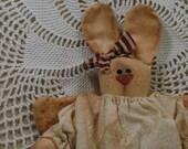 Itty Bit, A Primitive Christmas Bunny Angel
