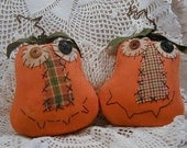 Primitive Silly Punkins Ornies or Tucks