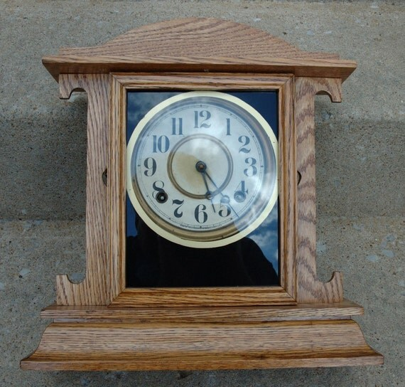 Antique ingrahams arts and crafts mantle clock for Arts and crafts clocks for sale