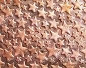"Stars Galore Pattern 20g - 6""  x 2 1/8 "" inches Copper Textured Metal Sheet - Bracelets Pendants Metalwork"