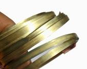 Brass Bezel Wire - Handmade -6mm wide - 26g - 3 feet length