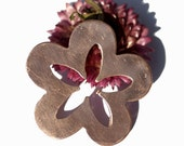 Copper Flower with Flower Center Cutout for Blanks  Enameling Stamping Texturing