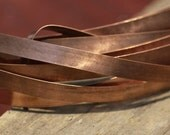 Copper Bezel Wire - Handmade - 8mm wide - 24 Gauge - 3 feet length