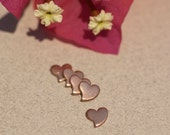 Copper  Blank Tiny Heart Whimsy 6mm x 6mm for Blanks Enameling Stamping Texturing Soldering