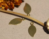 Brass Blank Leaf - Leaves 20mm x 9mm 22g with hole Shape for Blanks Metalwork Stamping Texturing