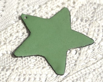 Shooting Star Vitreous Copper Enamel Pendant Piece for Jewelry Design Finding