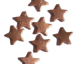 Copper Tiny Twinkle Stars 11mm for Enameling Stamping Texturing Soldering Blanks