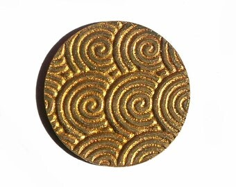 Brass Disc 18mm 20g Spiral Water Polished Textured Blanks Shape Charms for Metalworking Jewelry Making Blank