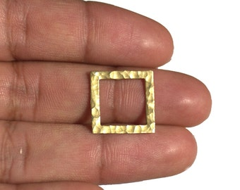 Brass Square Frame Blank Cutout Shape for Soldering Stamping Texturing Blanks