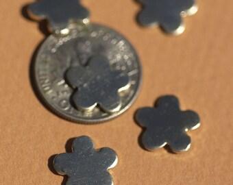 Nickel Silver Blank Little Flower 9mm 20g Metal Blanks Shape Form
