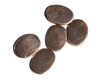 Copper Oval for Enameling Stamping Texturing Soldering Blanks - 10 pieces