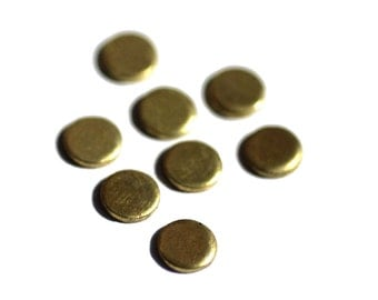 16 Disc 5mm Brass 22g Circle Blank Cutout for Soldering Stamping Texturing Blanks