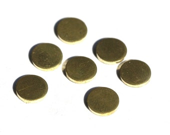 Brass Disc 6mm Circle Blank Cutout for Soldering Stamping Texturing - 16 pieces