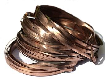 Copper Bezel Wire - Handmade - 4mm wide - 30 Gauge - 3 feet length